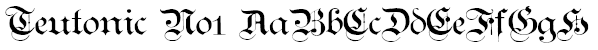 Teutonic No1 Font